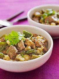 Slow-Cooker Pork & Hominy Stew #hominycasserole