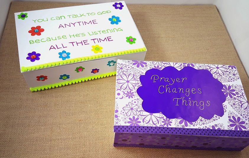 Diy Prayer Box Christian Craft For Kids Vbs Prayer Box