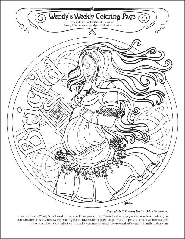 Wiccan Coloring Pages : wiccan, coloring, pages, Brigid, Coloring, Printables, Pinterest, Pages,, Shadows,, Pages