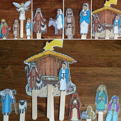 Peanut's peanuts: Die Weihnachtsgeschichte mit Stabpuppen - Nativity story stick puppets