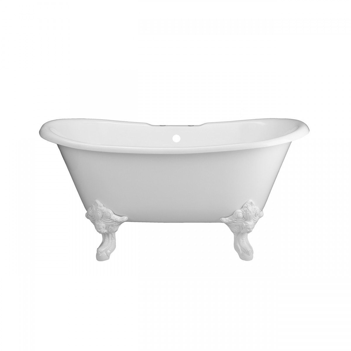 Monarch Cast Iron Double Slipper Clawfoot Tub No Faucet