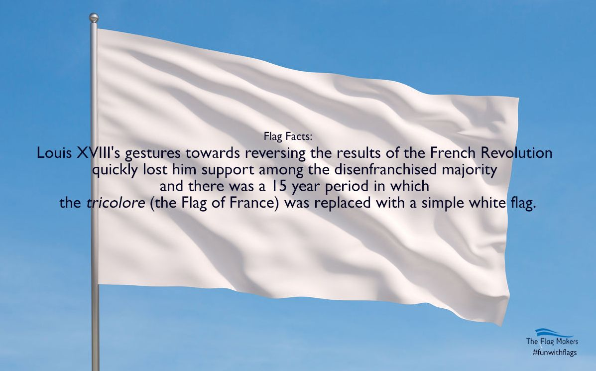 Flag Facts There Was A 15 Year Period In Which The French Flag Was Replaced With A Simple White Flag Funwi Design Your Own Flag Custom Flags Custom Banners