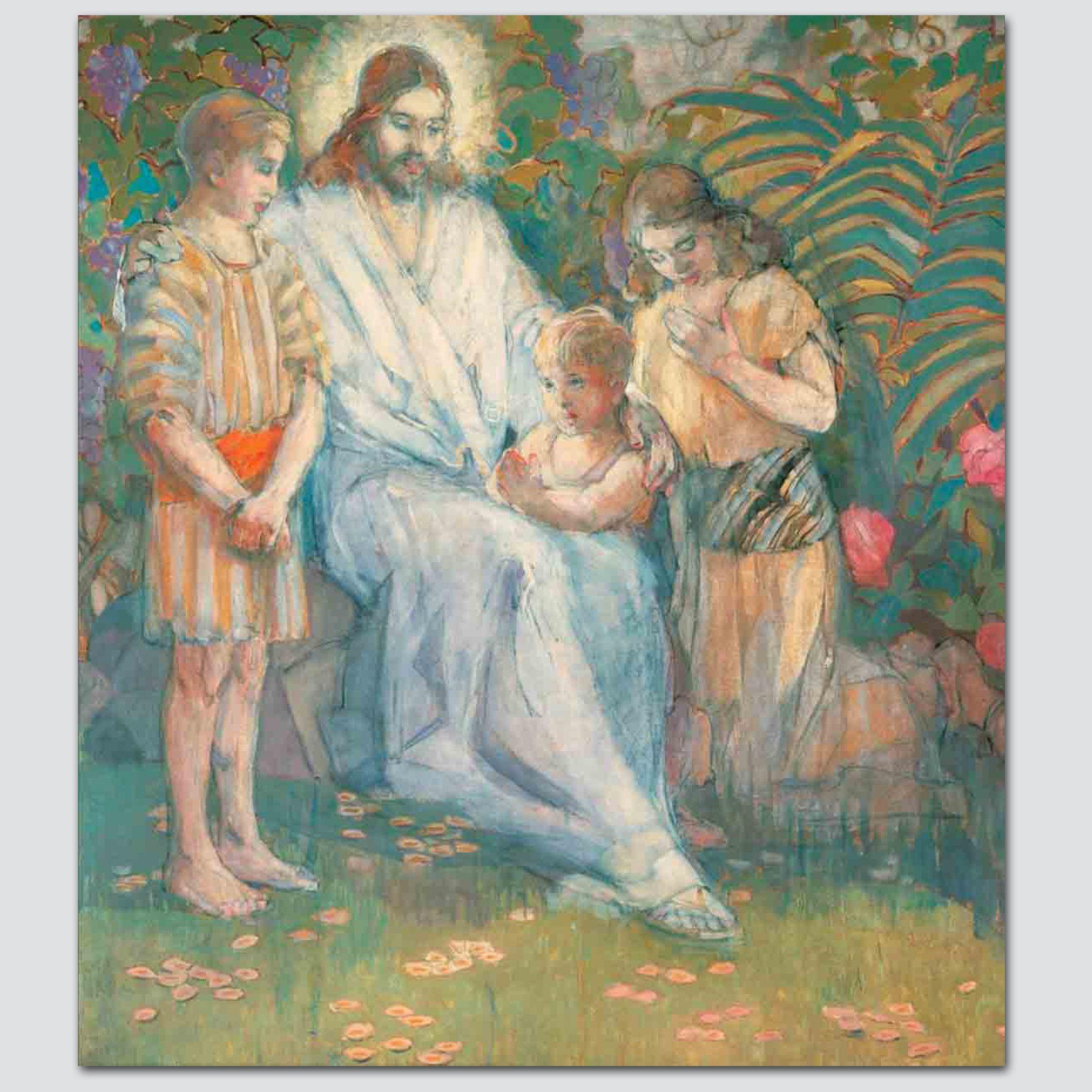 minerva teichert christ and the children child christian art
