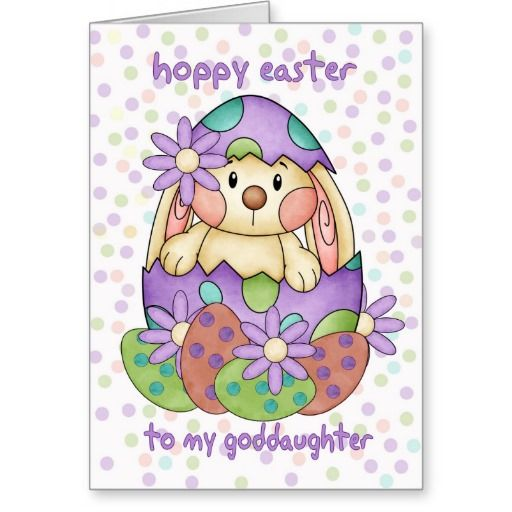 Goddaughter easter card with easter bunny greeti easter goddaughter easter card with easter bunny greeti negle Choice Image