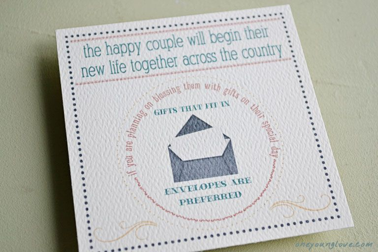 Wedding Invitation Gifts: Creative Way To Say Cash And Gift Cards Only