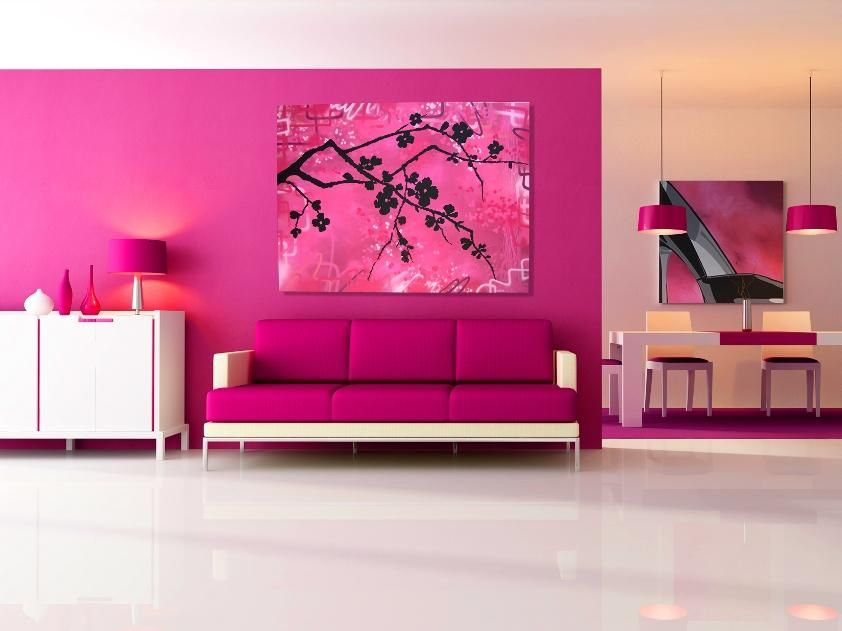 Pink Color To Make Living Room Nice | Cards and Wallpieces ...
