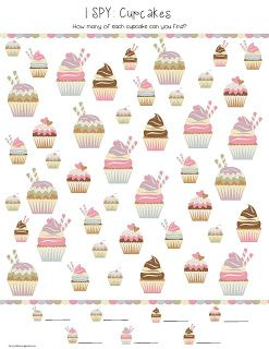 Cupcakes I Spy Free Printable Spy Games For Kids I Spy Games