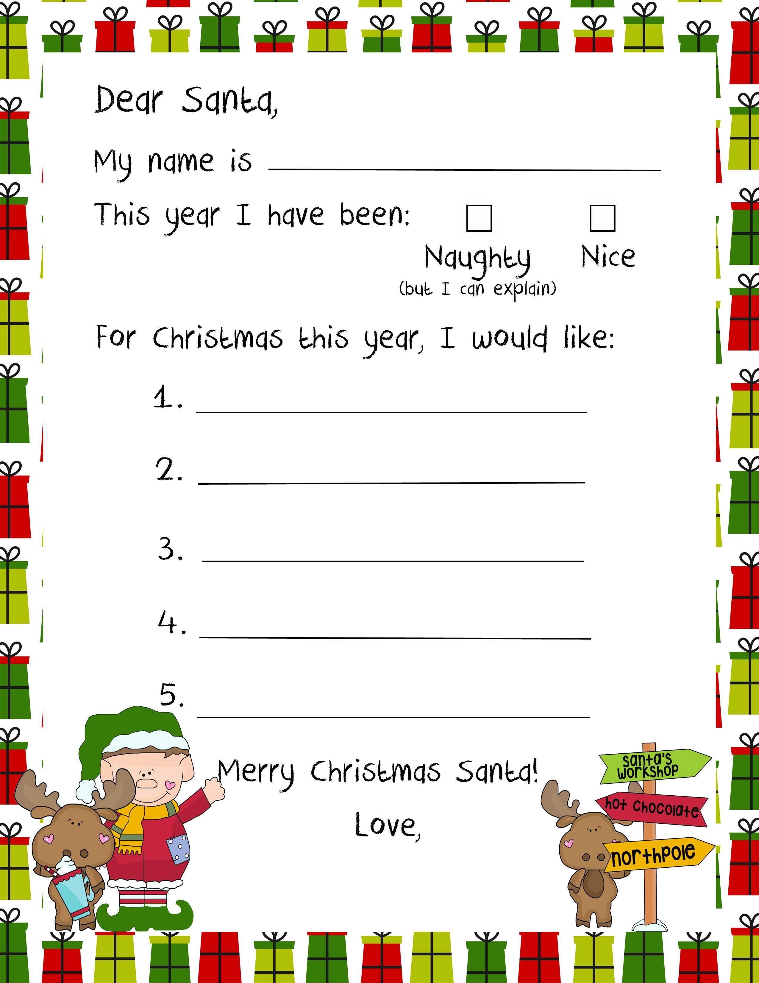 Christmas Printable Letters