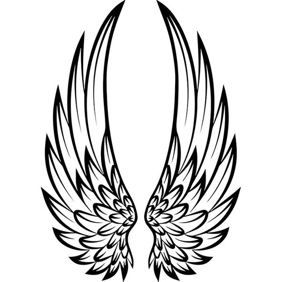 Angel Wings 5 Decorative Ornate Design Element Fantasy Bird Feather Logo Svg Eps Png Clipart Vec Wings Drawing Wing Tattoo Designs Wings