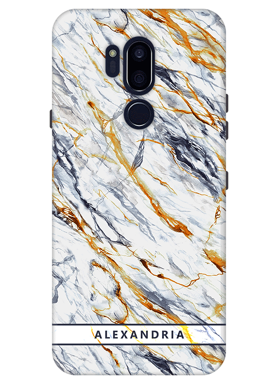 pretty nice 4b9f2 10f4b Grey Marble Personalised Phone Case for LG G7 Thinq, LG G6. Special ...