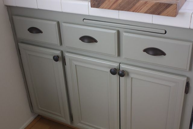 Martha Ocean Floor Painted Cabinets
