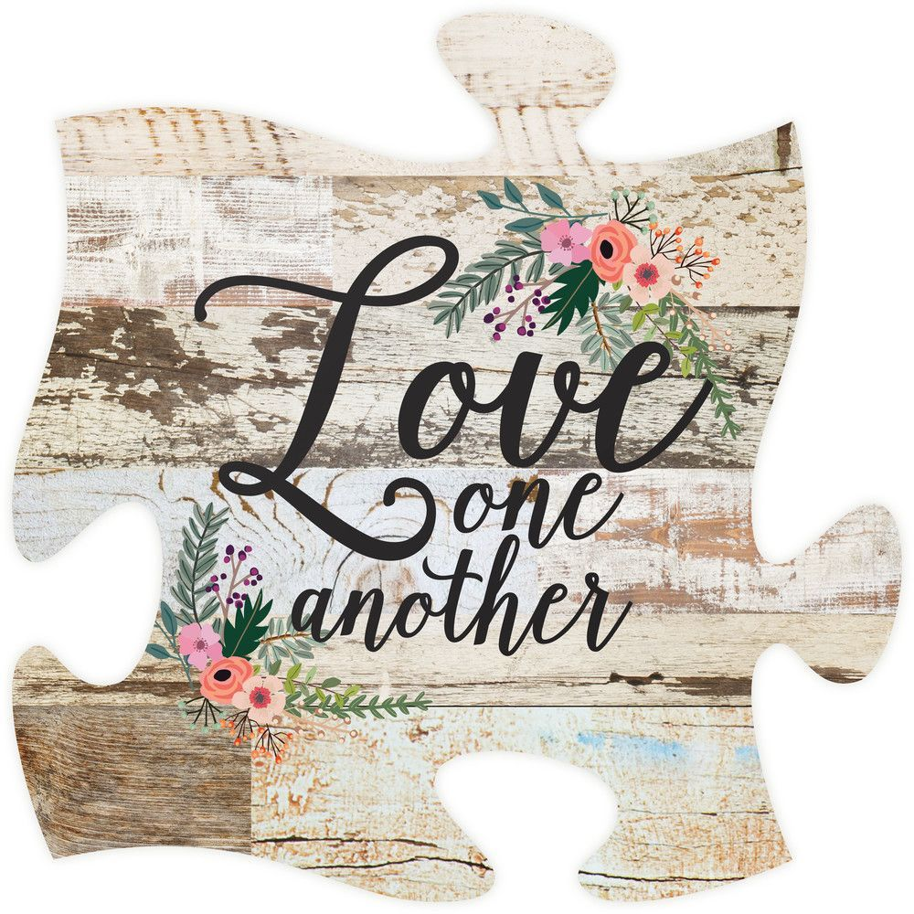 Puzzle Piece Wall Decor love one another puzzle piece | squares, love and puzzle pieces