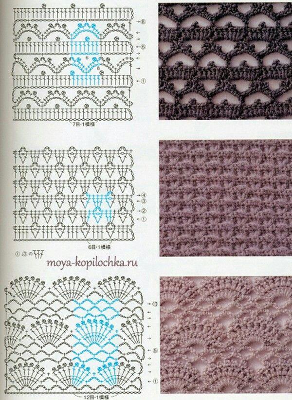 De middelste! | crochet pattern | Pinterest | Häkelmuster, Muster ...