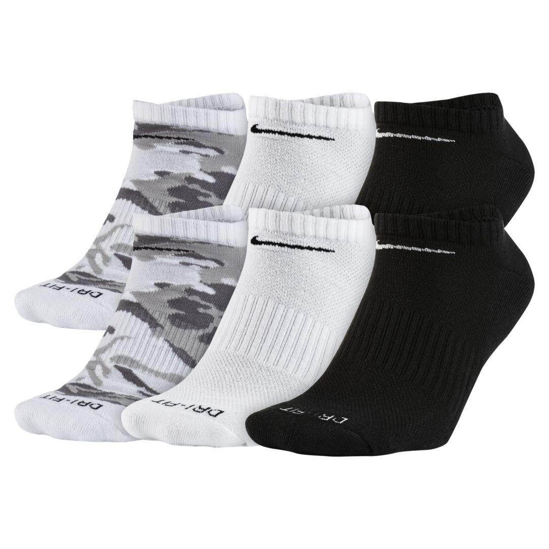 Nike drifit cushion noshow training socks 6 pair size