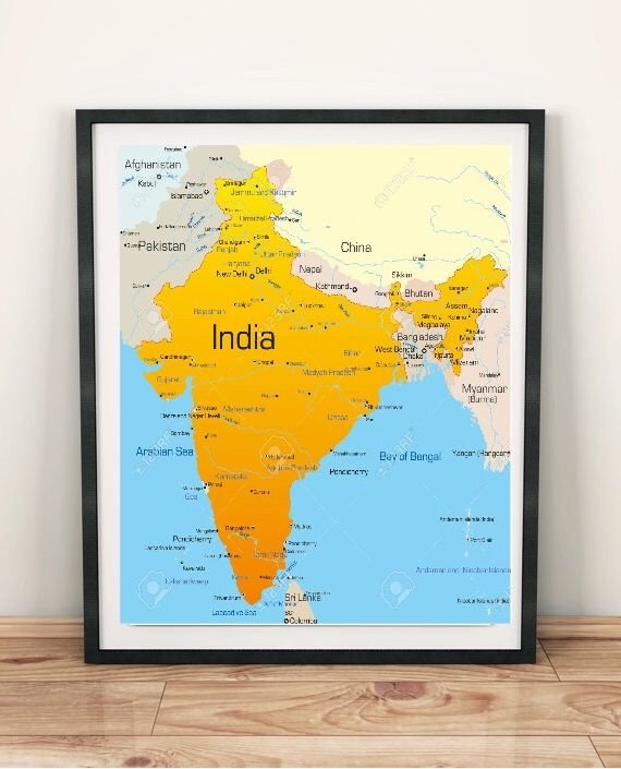 Pin By Kitty White On Maps Posters Wall Decor India Map