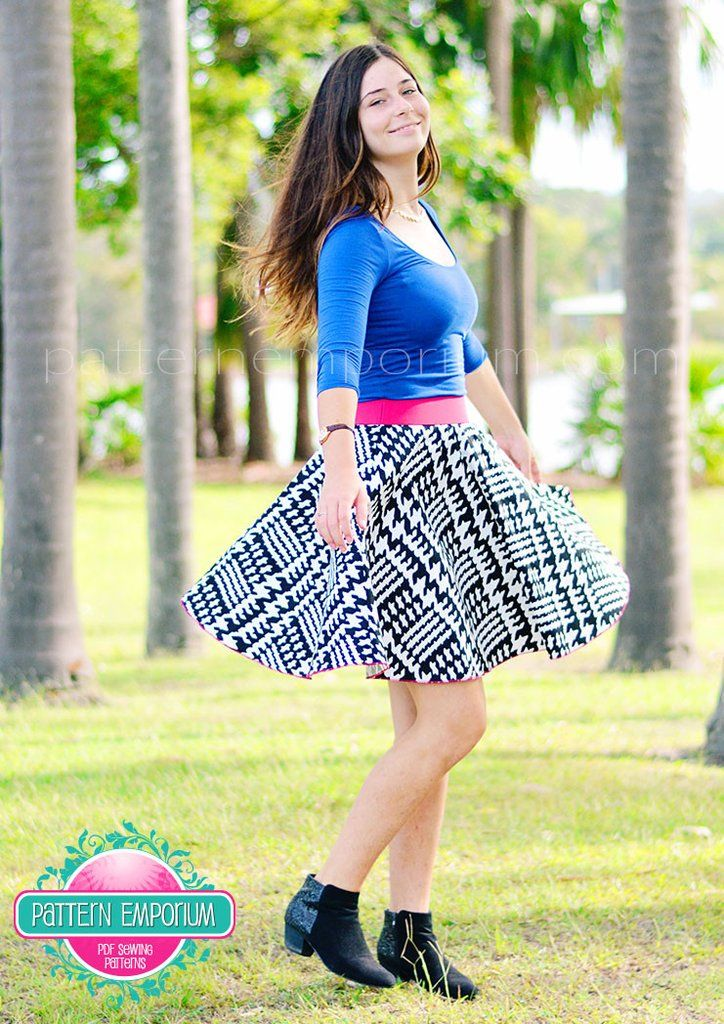 Circle Skater Skirt Skater Skirt Pattern Sewing Patterns Pattern