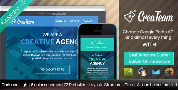 Createam Responsive Email Template With Builder My Items Email