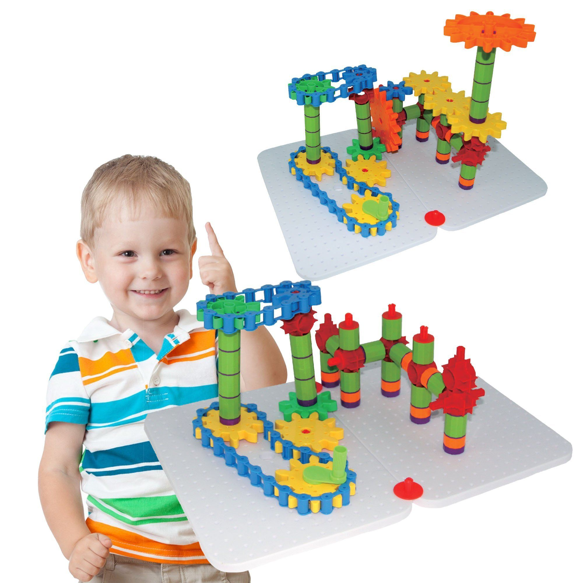 Educational Toys Jumbo Gears Kit by ETI Toys for Boys and Girls