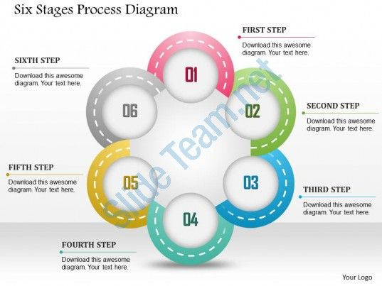 0914 business plan six stages process diagram powerpoint template - smartart powerpoint template