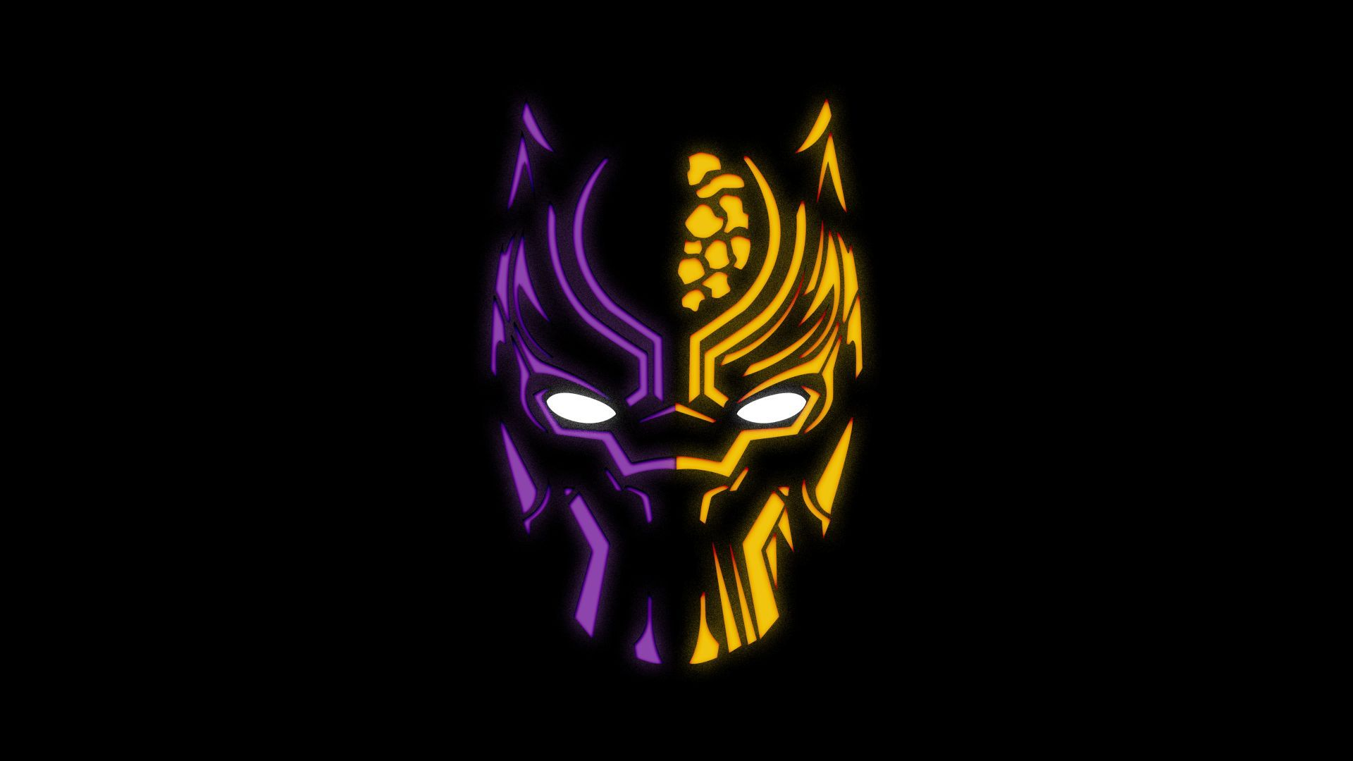 Download Wallpapers Of Black Panther Artwork Illustration Neon