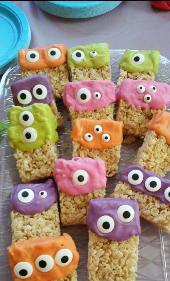 Monster treats First birthday Pinterest Monster treats