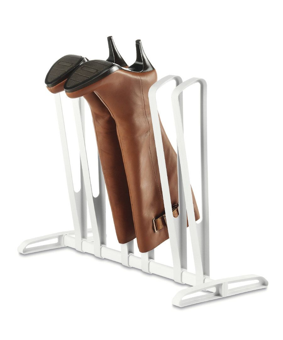 Look at this White Three-Pair Boot Rack on #zulily today!