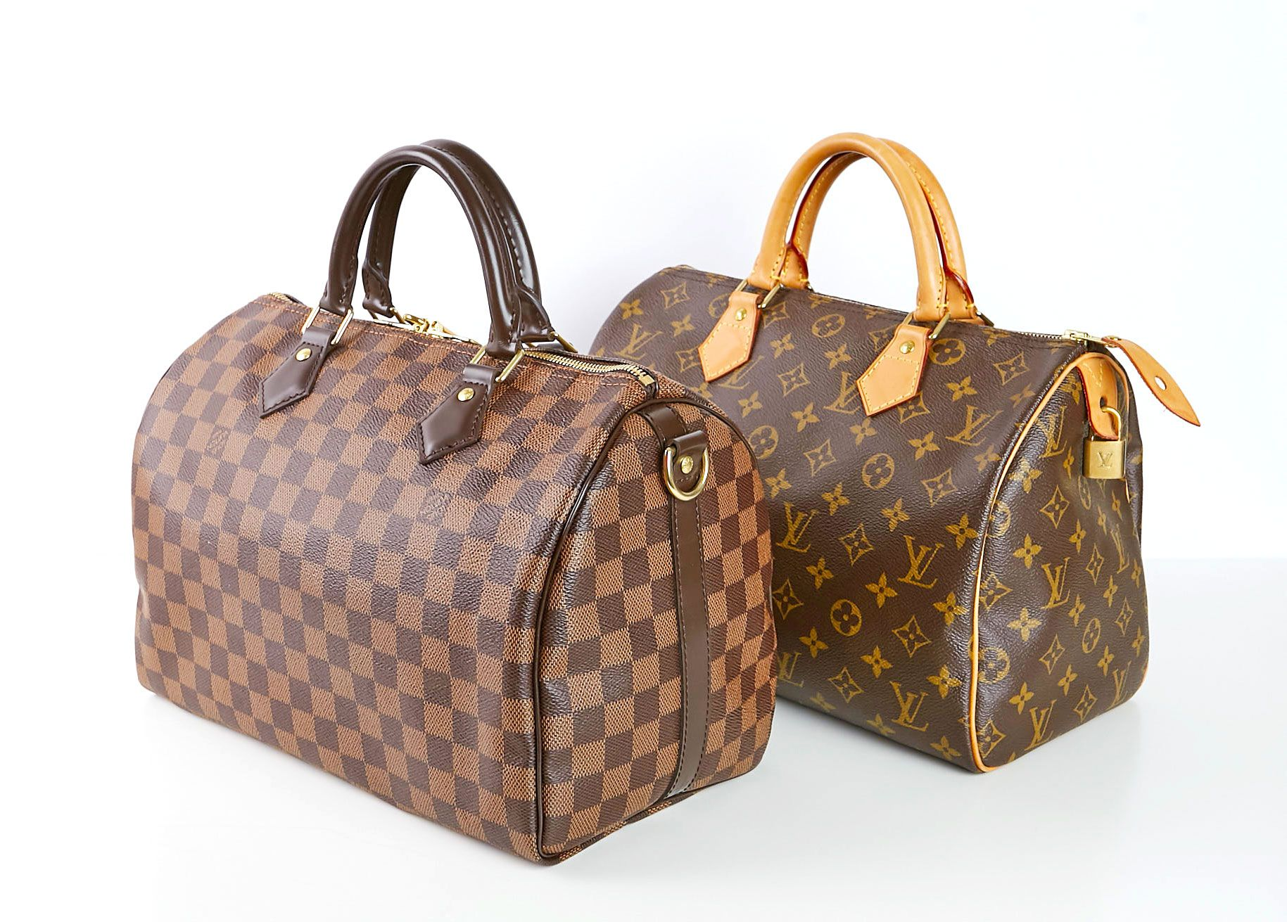 8e3e63151f Louis Vuitton Damier Ebene Speedy Bandouliere 30 and Louis Vuitton Monogram  Canvas Speedy 30 Bag | YoogisCloset.com