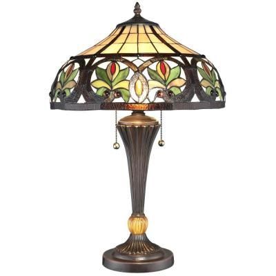 Serena D Italia 23 In Tiffany Sunrise Bronze Table Lamp Tf16014g