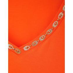 Photo of Amy Vermont, Hemd mit Dekoration am Ausschnitt, orange Amy Vermont
