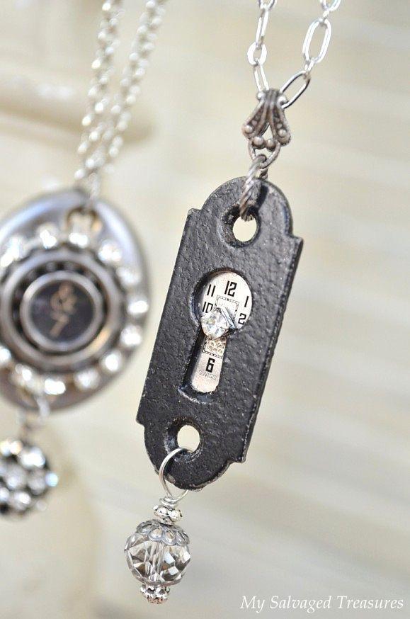 My Salvaged Treasures: Vintage Hardware Necklaces