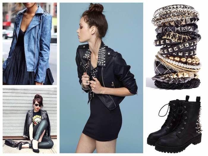Look rock avec robe noire