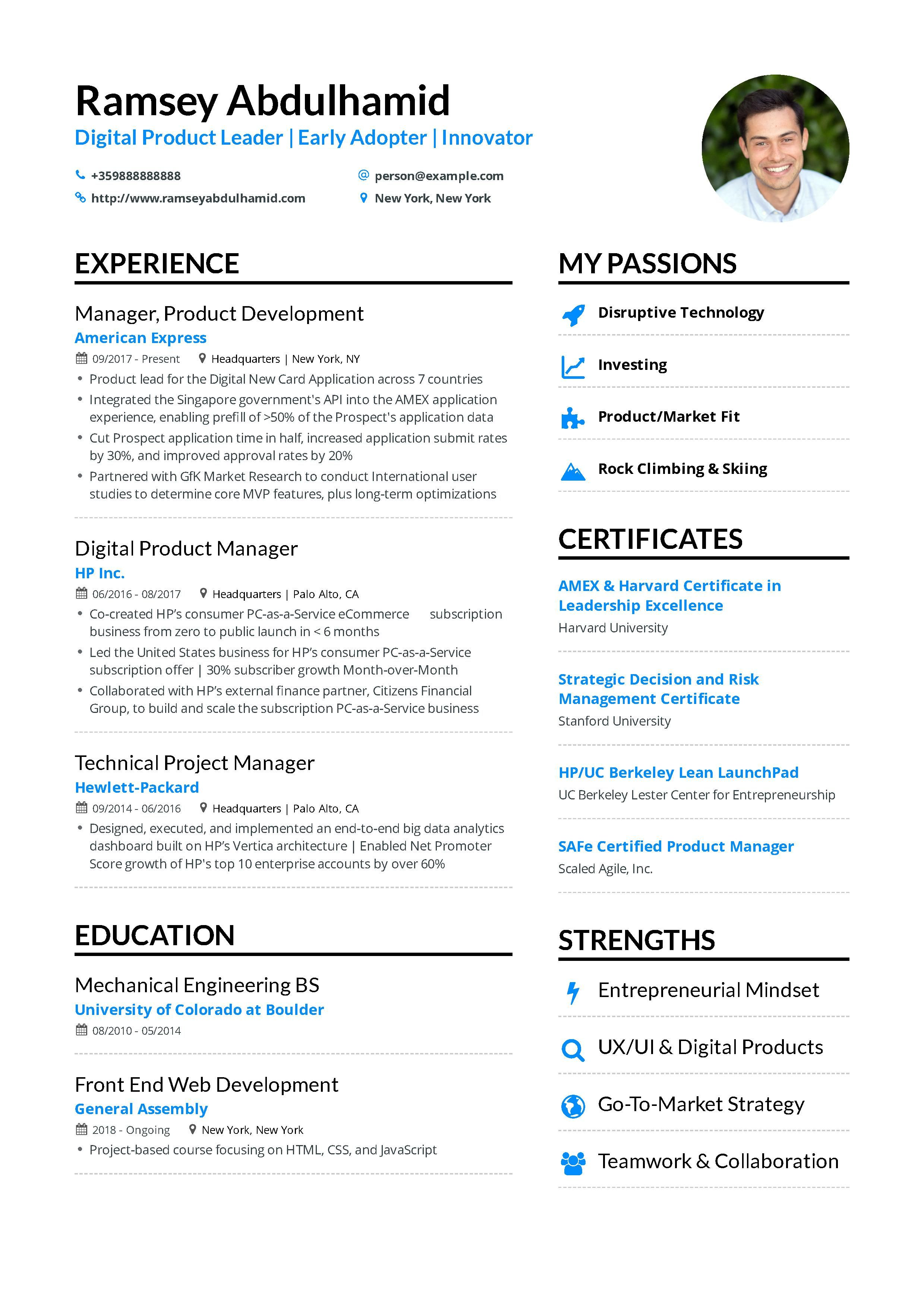 Product Manager Resume Example And Guide For 2019 Project Manager Resume Manager Resume Resume Examples