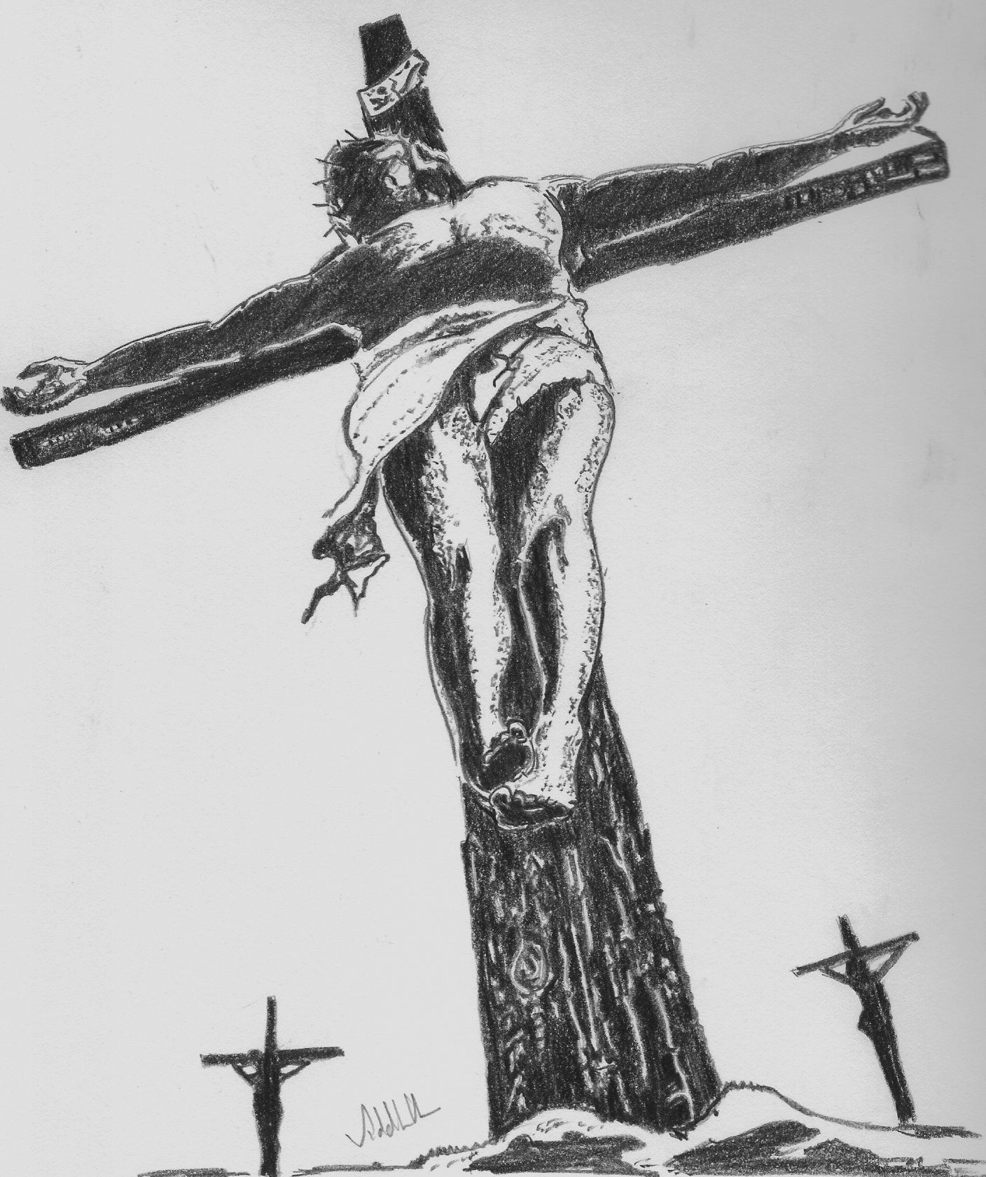 the christian cross seen as a representation of the instrument of