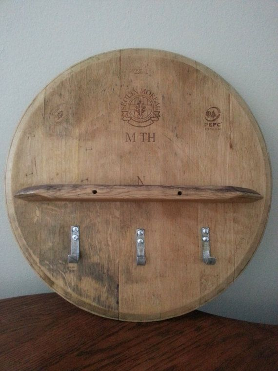 Barrel Head Shelf With Hooks In 2019 Decor Pinterest Barrel