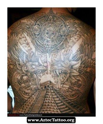 Aztec Dragon God Tattoo