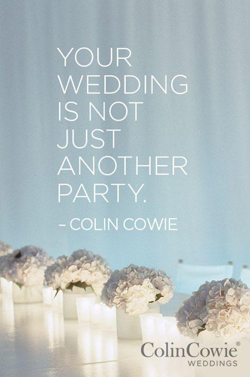 Words of Wisdom, Expert Tips, Colin Cowie Advice, Wedding Advice ...