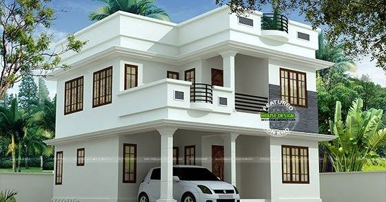 1897 Sq Ft Cute Double Storied House Kerala House Design Bungalow House Design Simple House Design