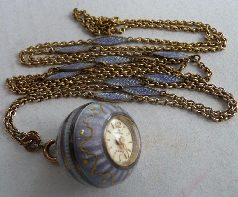 Bucherer Enamel Guilloche Watch Pendant Watches Vintage Pocket Watch Vintage Watches