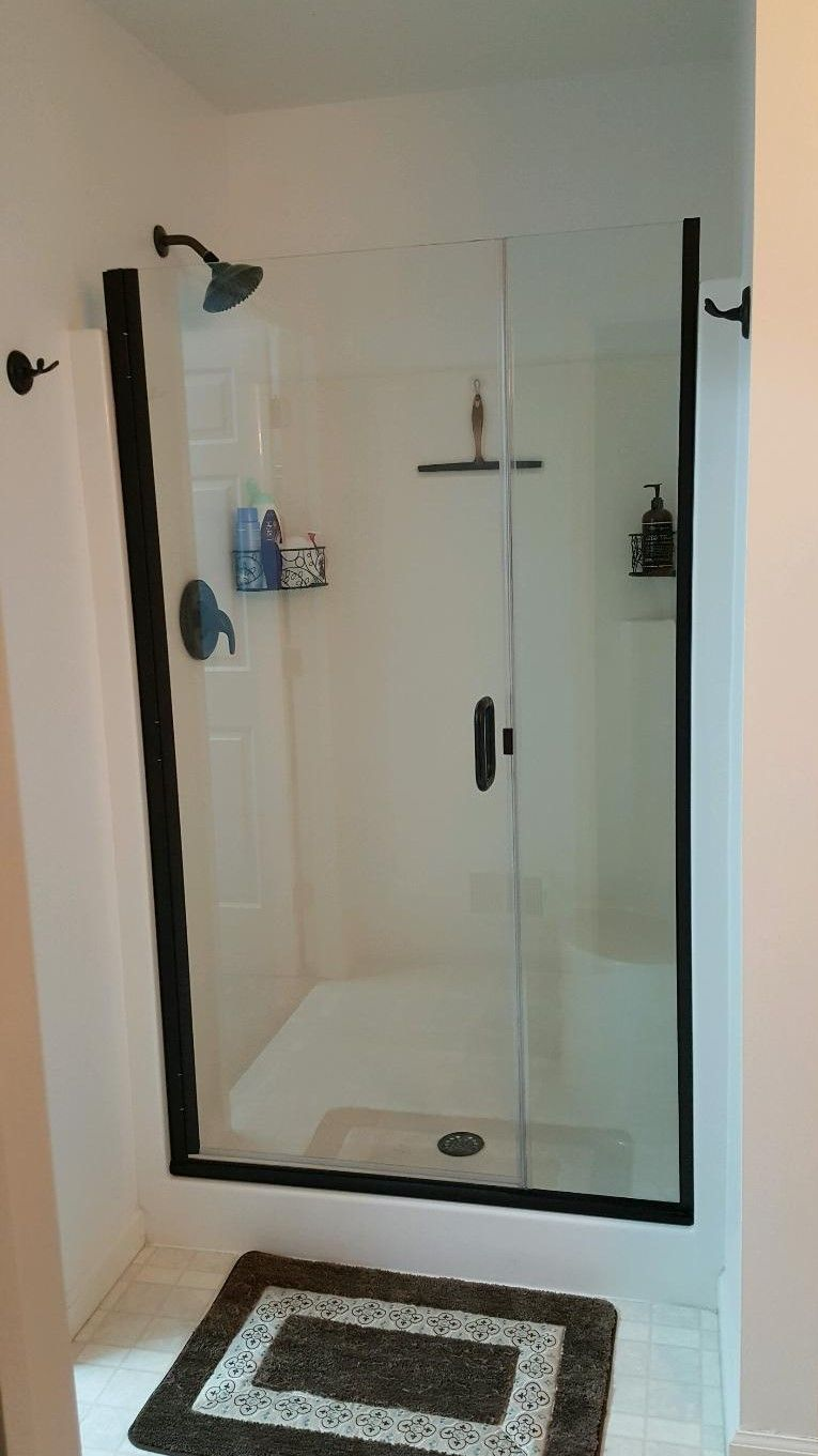 Semi Frameless Oil Rubbed Bronze Swing Shower Door Shower