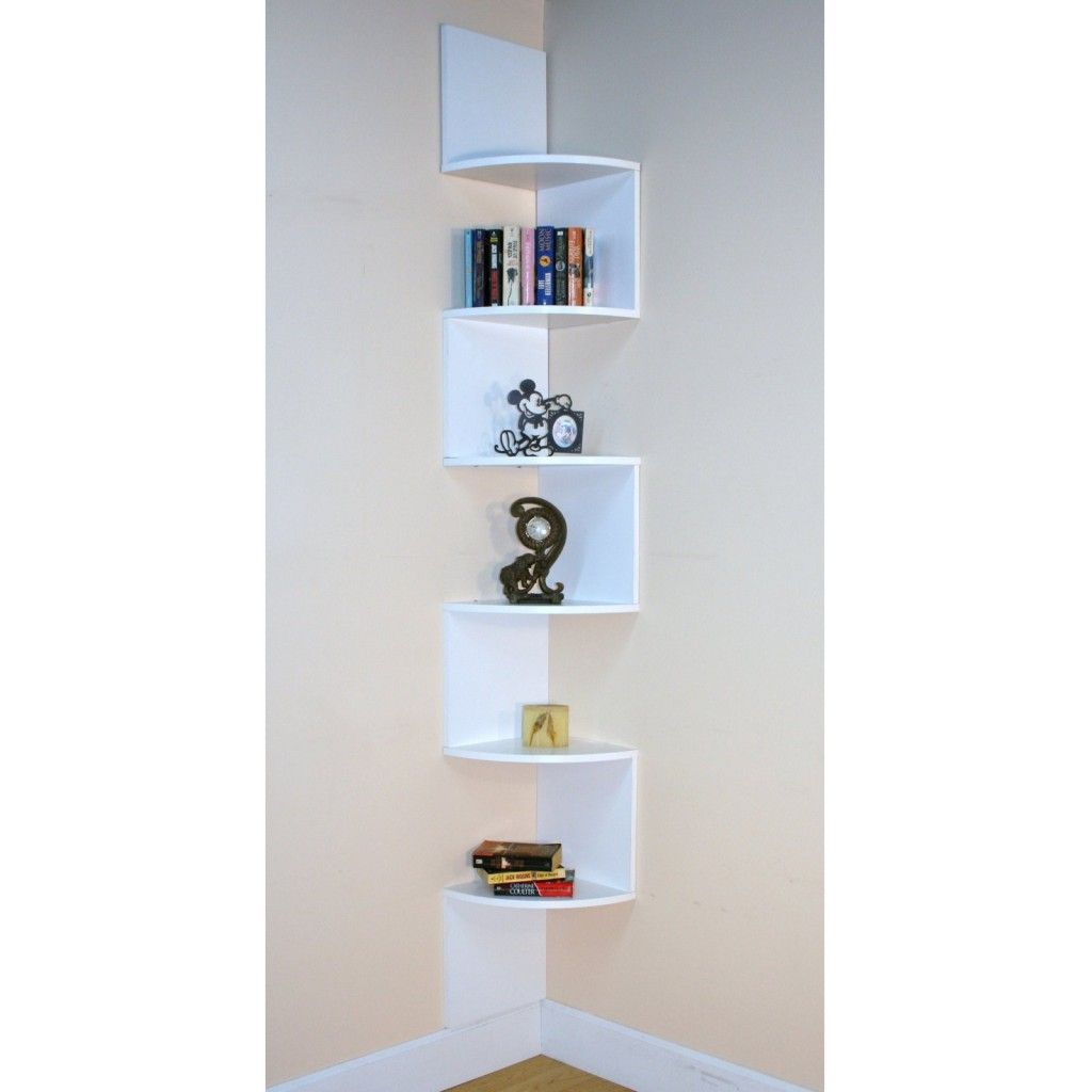 Premier 6 Shelf Corner Bookcase  White Can Easily Make Part 14