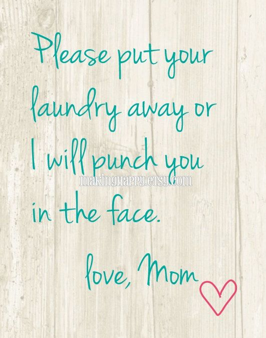 Please Put Your Laundry Away Humorous 8 x 10 or 5 x 7 Art | Etsy