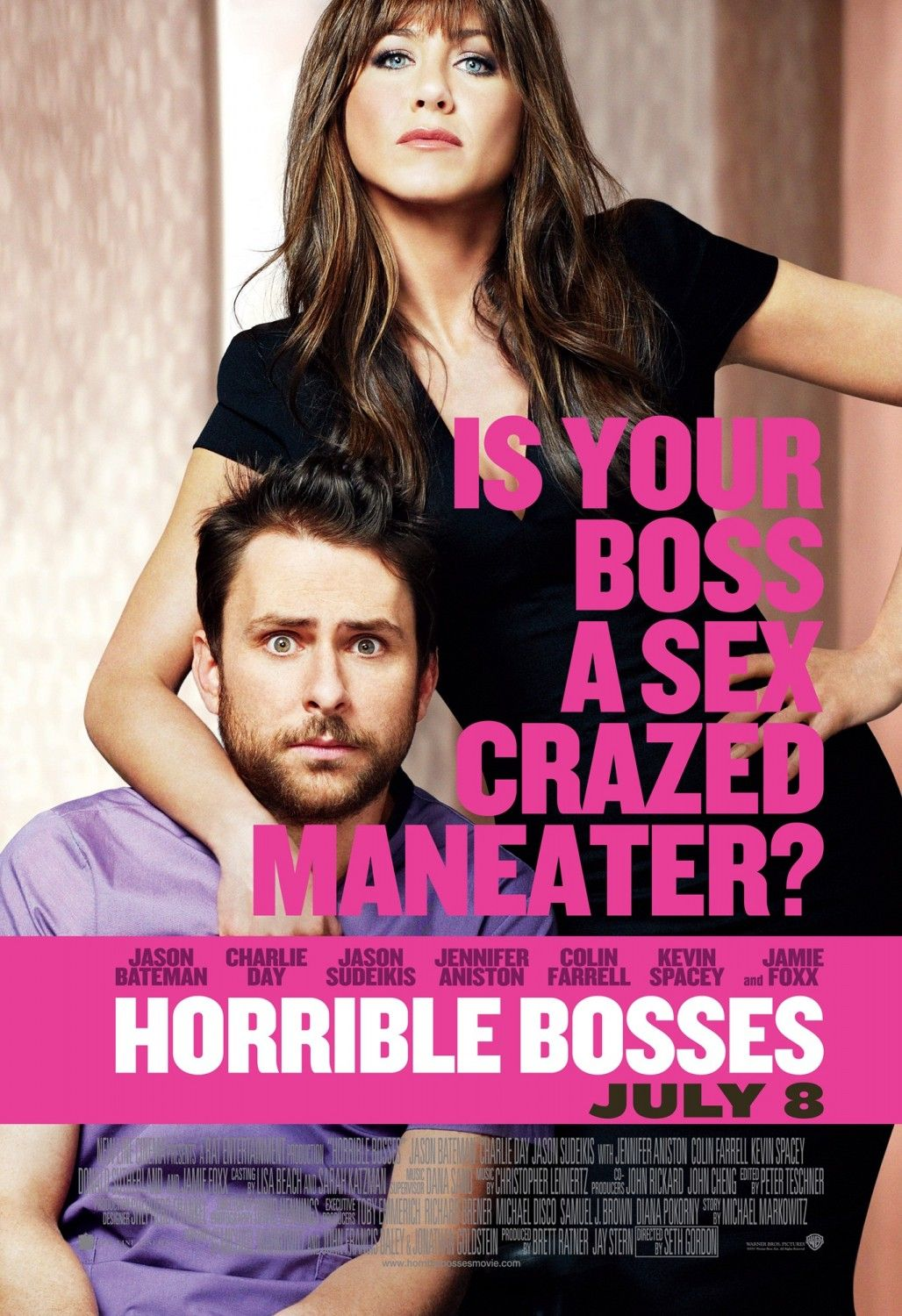 Extra Large Movie Poster Image For Horrible Bosses I Love Filmes