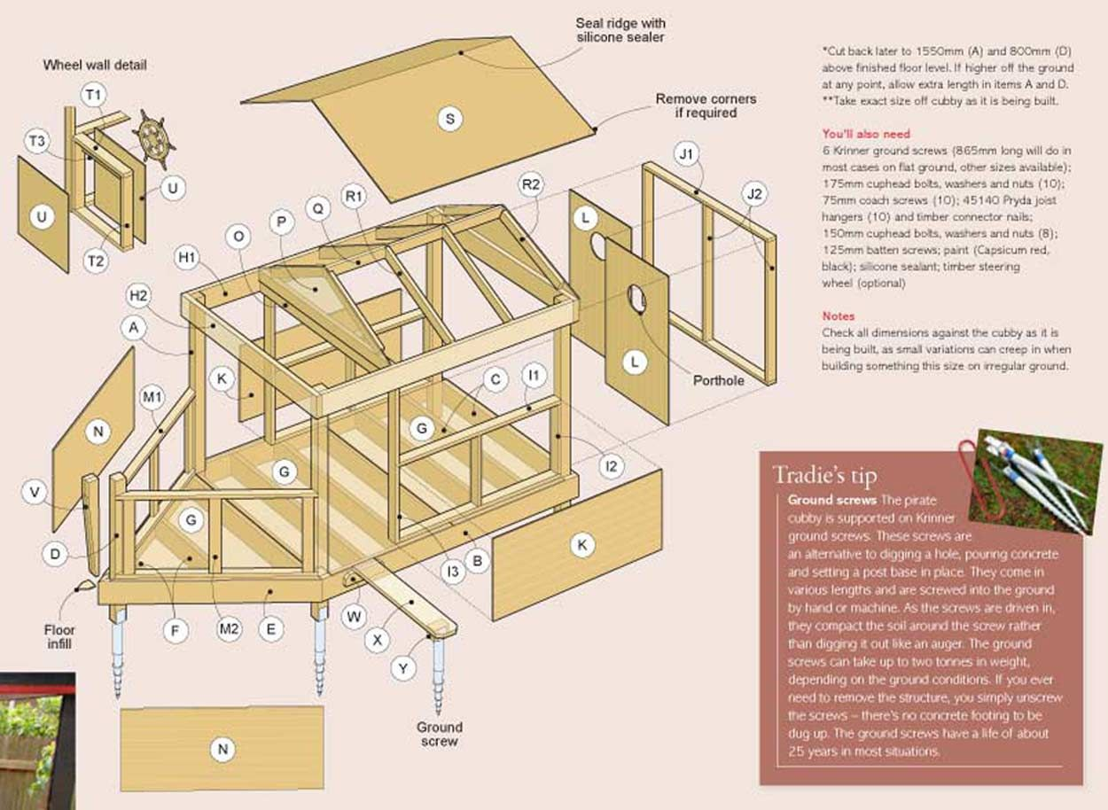 pirate cubby house plans proyectos