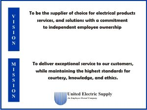 United Electric S Vision And Mission Statements Vision And Mission Statement The Unit Electrical Supplies