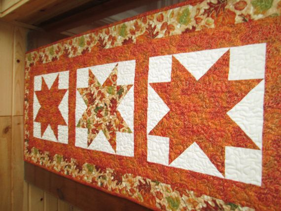 Autumn Table Runner LARGE Fall Table Runner Autumn by UltraQuilts