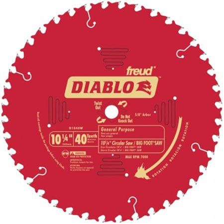 Diablo D1040w 40 Teeth Circular Saw Blade Carbide Tip Circular Saw Blades Table Saw Blades Circular Saw