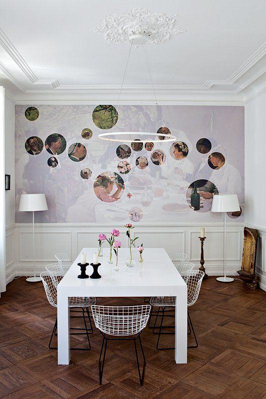 un tableau revisit pour la salle manger marie claire maison d co pinterest. Black Bedroom Furniture Sets. Home Design Ideas