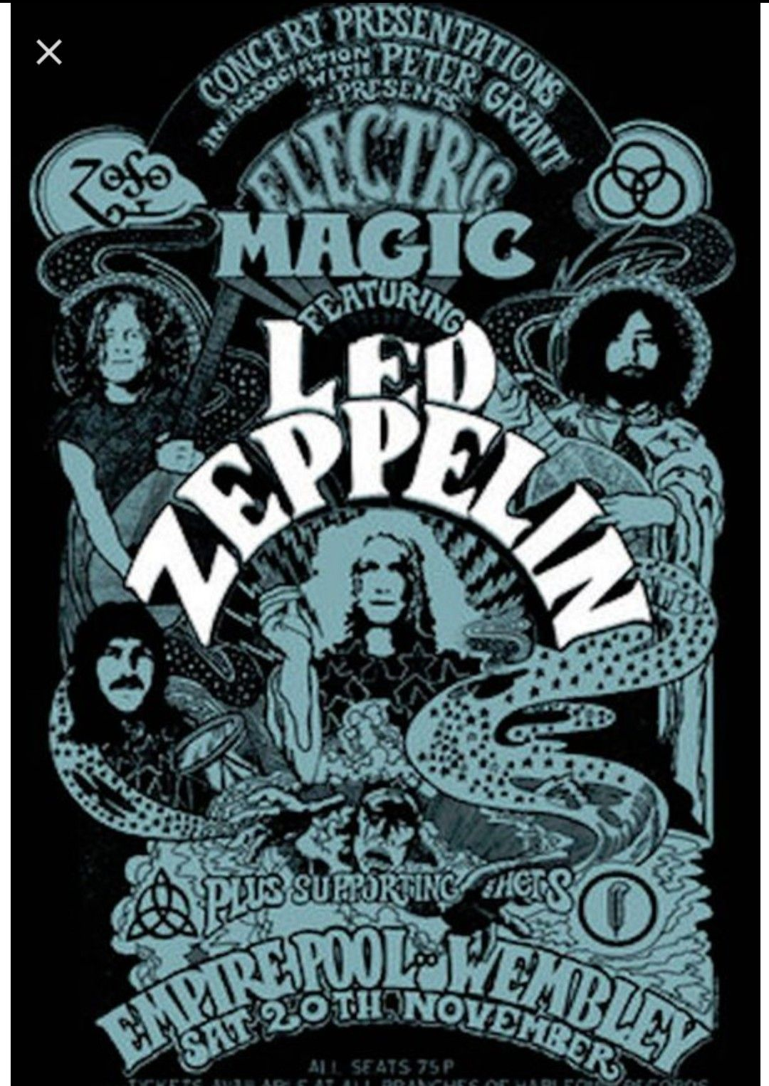 Pin By Anna Laney On Locandine Di Concerti Led Zeppelin Poster Vintage Music Posters Rock Posters