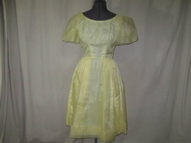 Puff Sleeve Taffeta Dresses