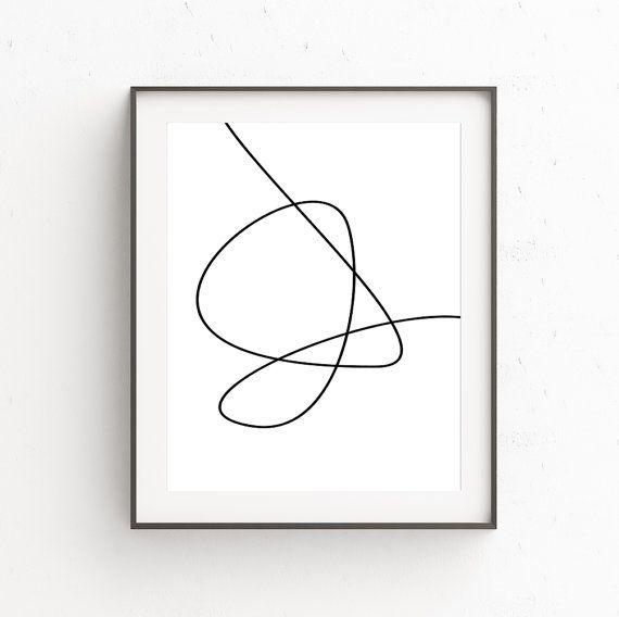 Minimalist Bedroom, Minimal Poster Print, Minimal Art